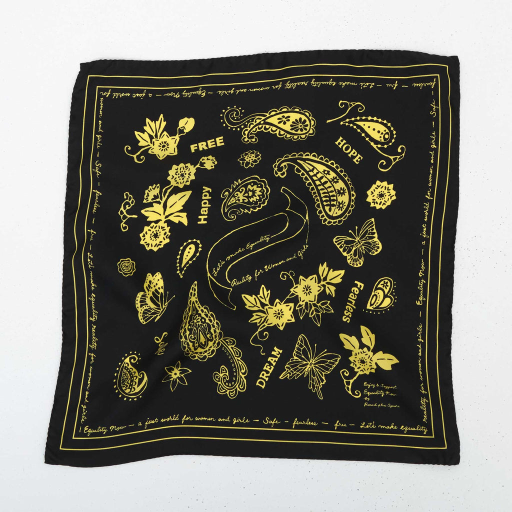 FEARLESS SILK BANDANA - BLACK