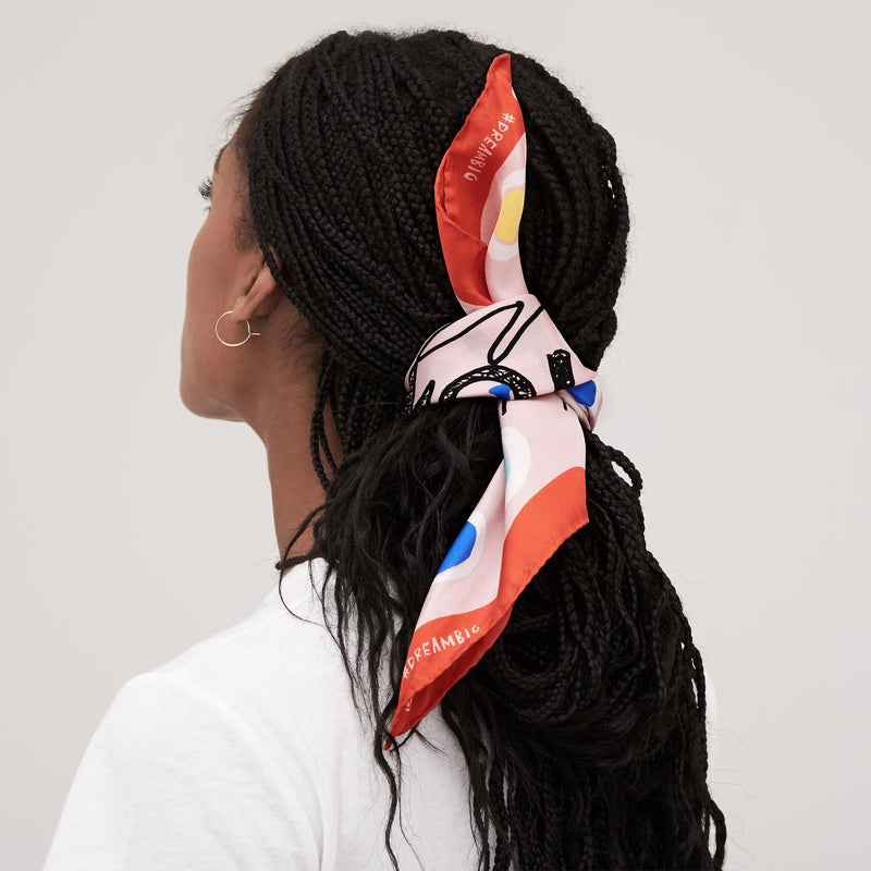 GIRL POWER SILK BANDANA
