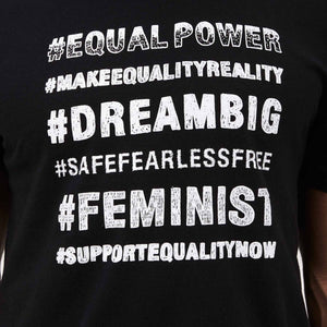 EQUAL POWER UX TEE - BLACK