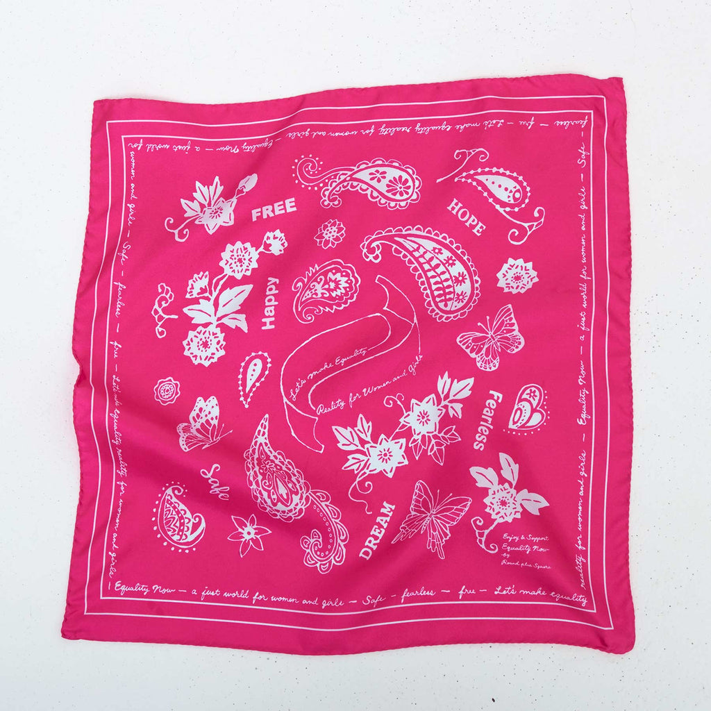 FEARLESS SILK BANDANA - PINK I GET 3 & PAY 2*