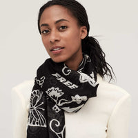 FEARLESS CASHMERE SHAWL - BLACK
