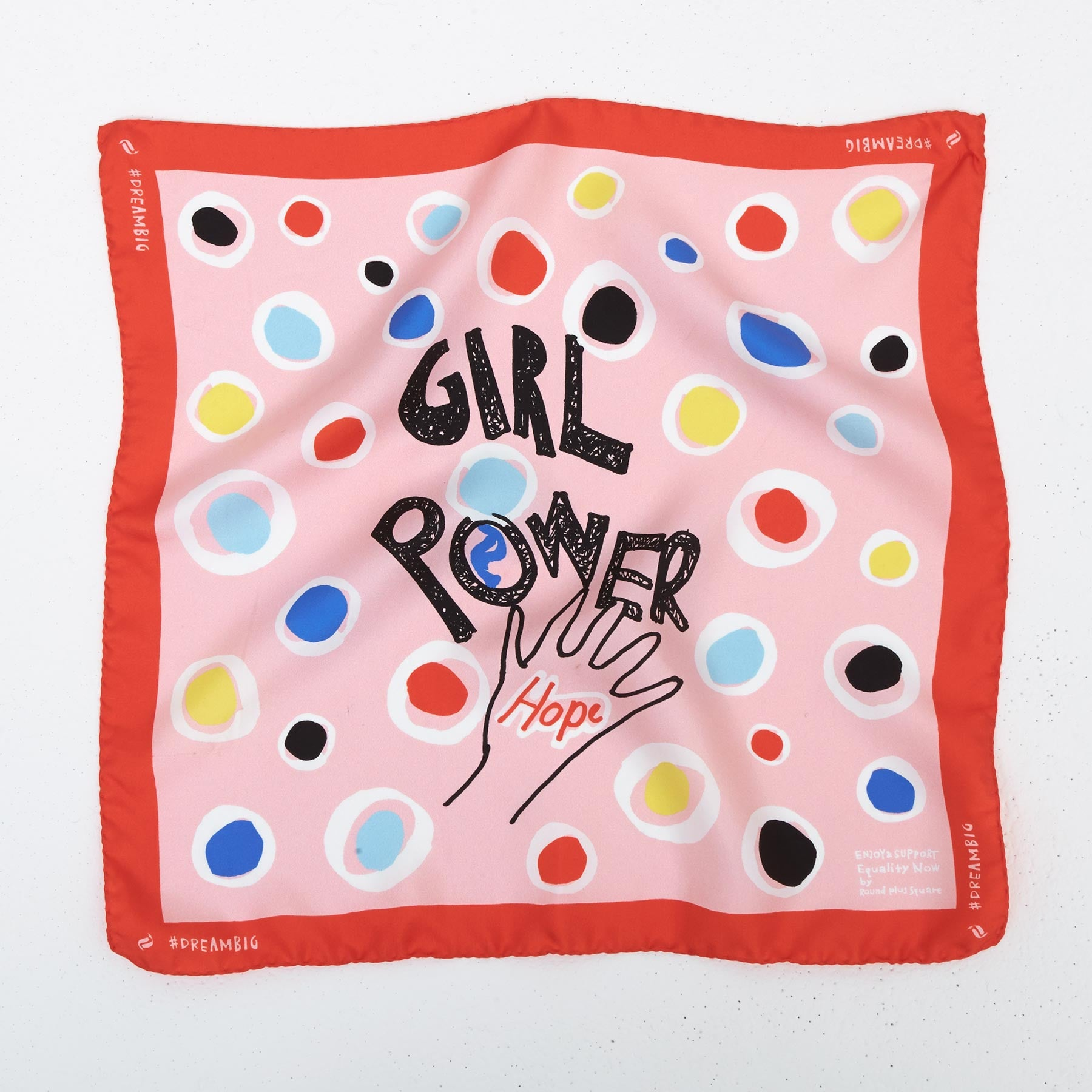 Girl Power Silk Bandana – Blush