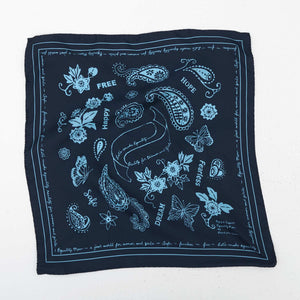 FEARLESS SILK BANDANA - NAVY
