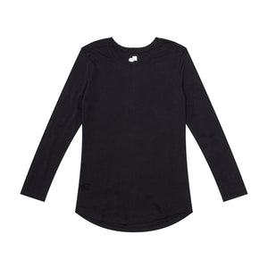 RELAXED LONG SLEEVE - BLACK