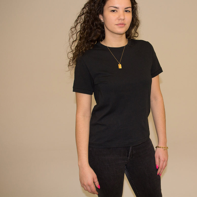 WOMAN BASIC BOXY - BLACK