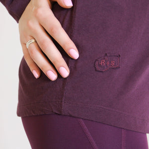 RELAXED LONG SLEEVE - PLUM