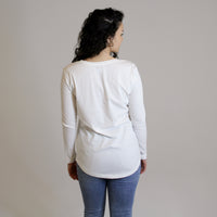 RELAXED LONG SLEEVE - WHITE