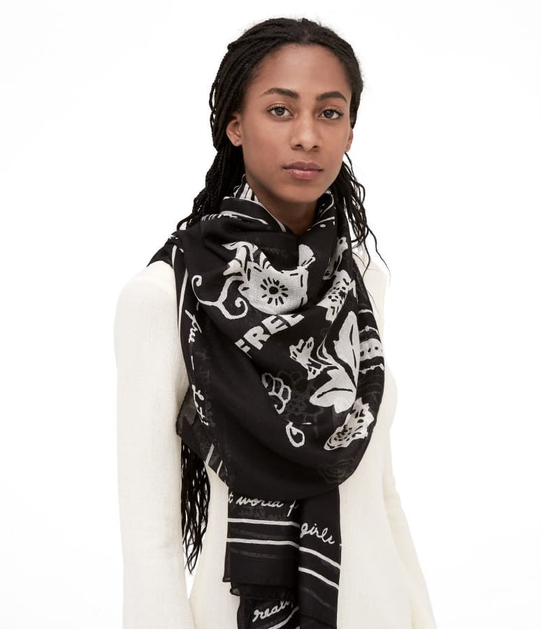 Let's Make Equality Reality Shawl - Black