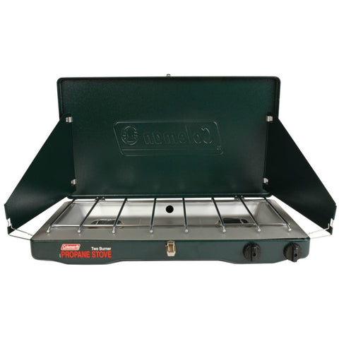 Emergency and outdoor double burner propane stove