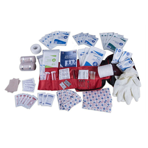 Complete first aid kit for outdoors or emergencies