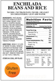 Enchilada beans and rice emergency survival food nutritional facts panel