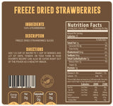 Freeze dried strawberries nutritional facts panel