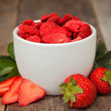 Freeze dried strawberries for emergency food supply