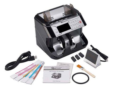 G Star Technologies Money Counter with UV/MG/IR/MT/RR Counterfeit Bill Detection (Supreme) with 1 Year Warranty W/Adhesive Straps dust Cover and Accessories