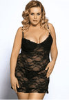 Plus Size Therese Chemise - Black