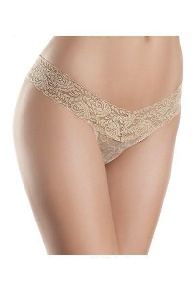 Nude Lace Thong Panty