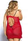 Plus Size Ruthie Chemise - Red