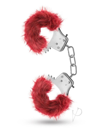 Fur Cuffs - Red