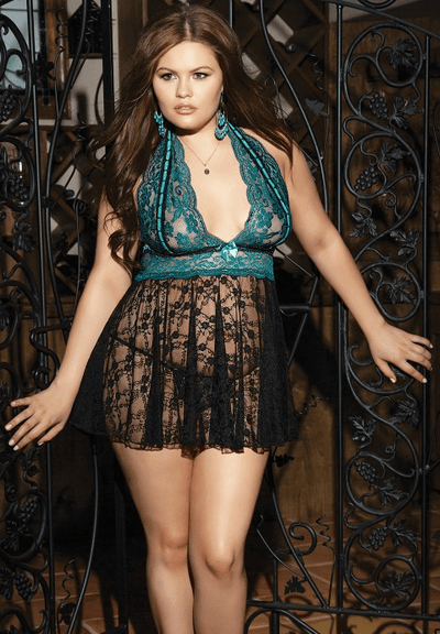 Plus Size Dana Babydoll Set