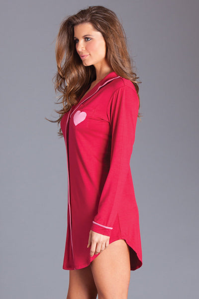 Stacie Sleep Shirt- Red