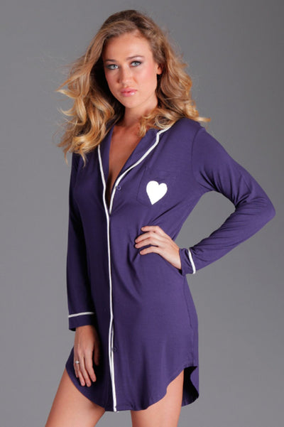 Plus Size - Stacie Sleep Shirt- Navy
