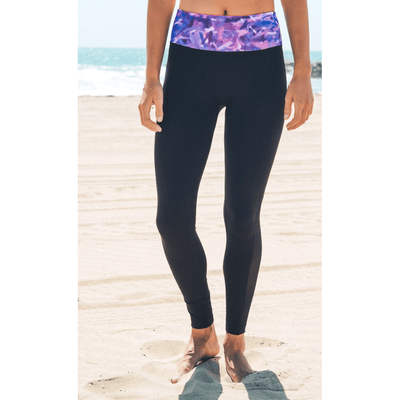 Geometric Purple Yoga Leggings