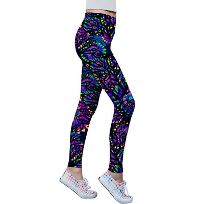 Midnight Glow Lucy Purple Performance Leggings - Women