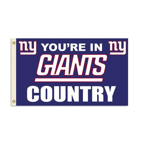 New York Giants Nfl You're In Giants Country 3'x5' Banner Flag