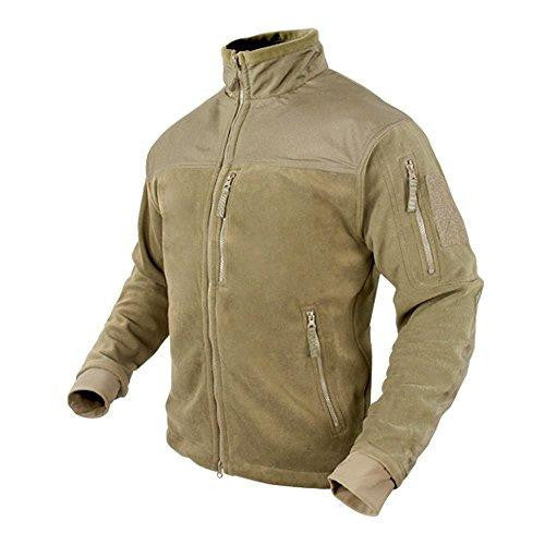 Alpha Fleece Jacket Color- Tan (small)
