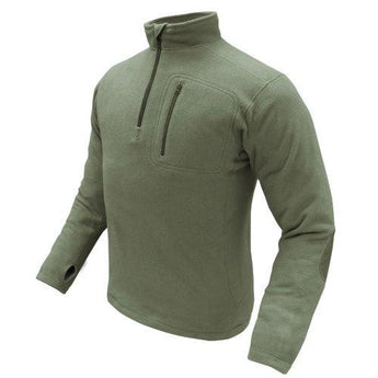 1-4 Zip Pullover Color- Od Green (large)