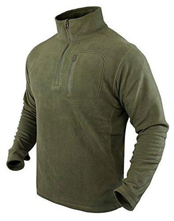 1-4 Zip Pullover Color- Od Green (x-large)
