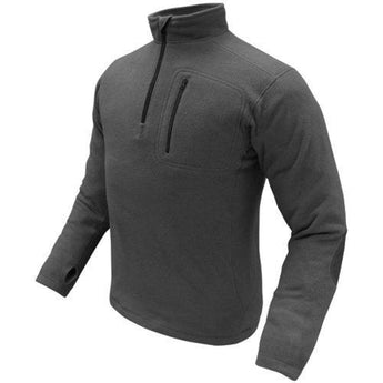 1-4 Zip Pullover Color- Black (x-large)