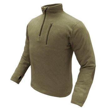 1-4 Zip Pullover Color- Tan (large)