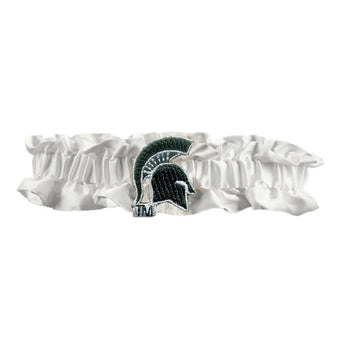 Michigan State Spartans Ncaa Dainty Satin Garter (white)