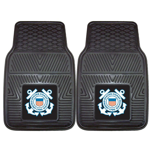 Us Coast Guard Armed Forces Heavy Duty 2-piece Vinyl Car Mats (18