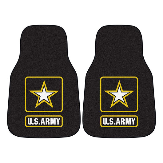 Us Army Armed Forces 2-piece Printed Carpet Car Mats (18x27)