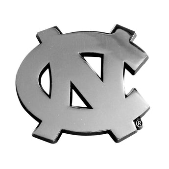 North Carolina Tar Heels Ncaa Chrome Car Emblem (2.3in X 3.7in)