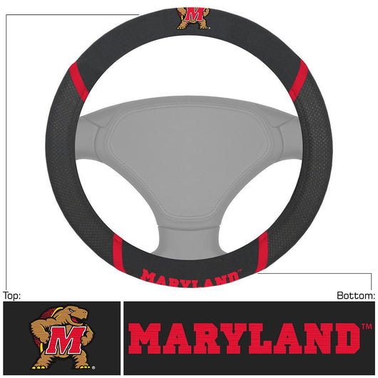 Maryland Terps Ncaa Polyester Steering Wheel Cover