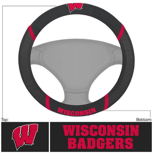 Wisconsin Badgers Ncaa Polyester Steering Wheel Cover