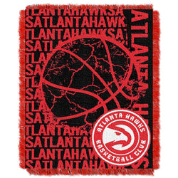 Atlanta Hawks Nba Triple Woven Jacquard Throw (double Play Series) (48
