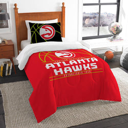 Atlanta Hawks Nba Twin Comforter Set (reverse Slam Series) (64