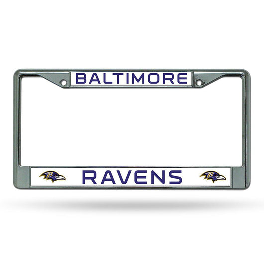 Baltimore Ravens Nfl Chrome License Plate Frame