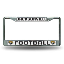 Jacksonville Jaguars Nfl Chrome License Plate Frame