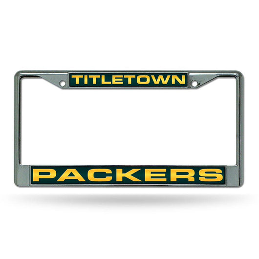 Green Bay Packers Nfl Chrome Laser Cut License Plate Frame