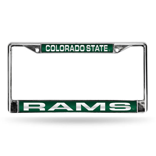 Colorado State Rams Ncaa Chrome Laser Cut License Plate Frame
