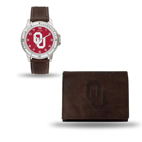 Oklahoma Sooners Ncaa Watch And Wallet Set (niles Watch)