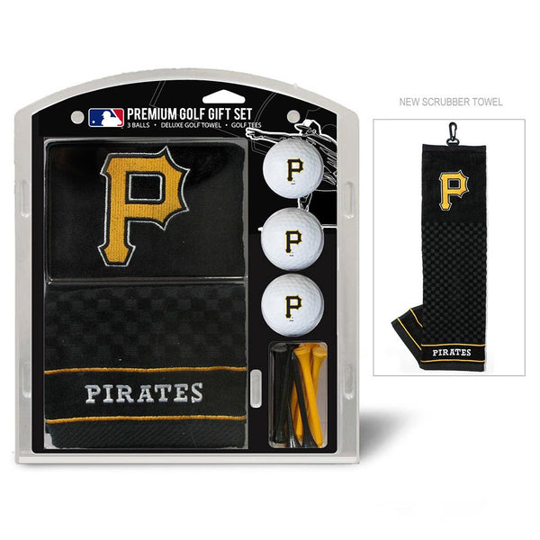 Mlb Pittsburgh Pirates Embroidered Towel Gift Set, Black