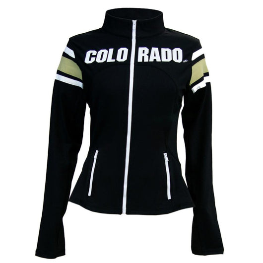 Colorado Golden Buffaloes Ncaa Womens Yoga Jacket (black) (medium)