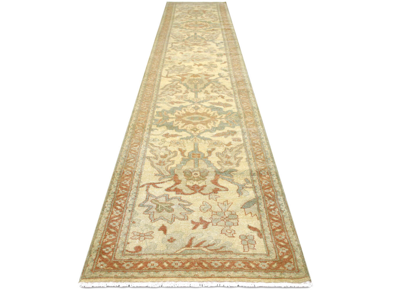 "Recently Woven Egyptian Sultanabad Runner - 2'9"" x 13'8"""
