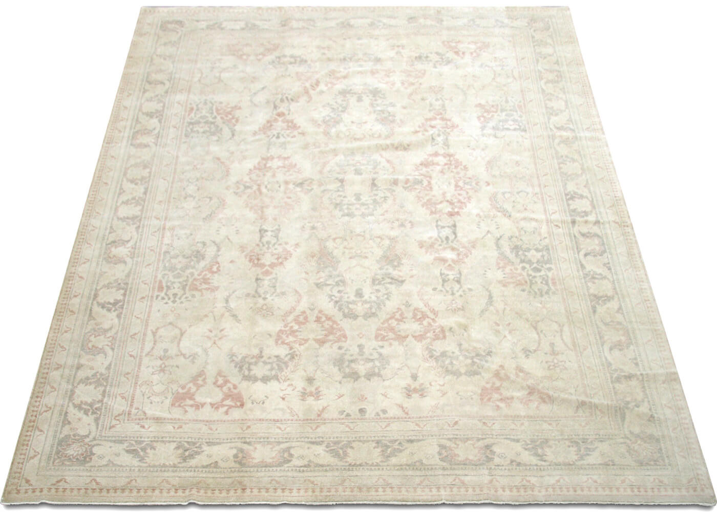 "Recently Woven Turkish Oushak Carpet - 9'2"" x 11'4"""